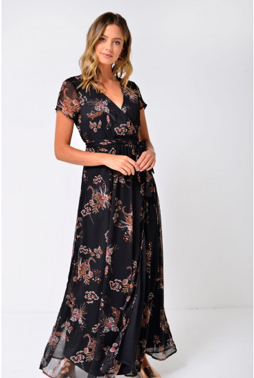 Queen Maxi Dress in Black