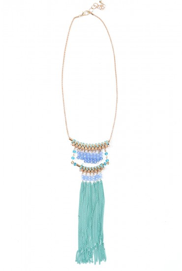 Betty Fringe Pendant in Mint