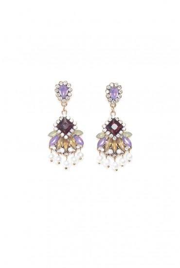 Cecily Multi Stone Drop Earrings