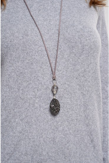 Terri Sparkle Pendant in Pewter