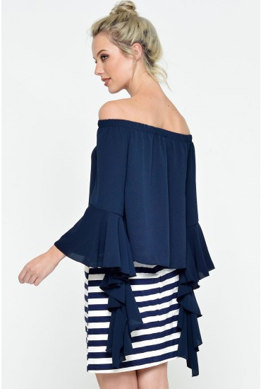 Remi Frill Gypsy Top in Navy