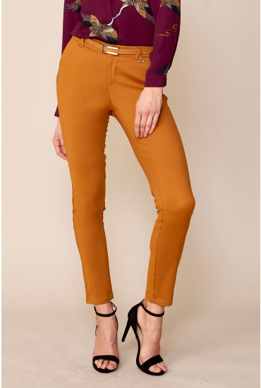 Cher Cigaret Pants in Mustard