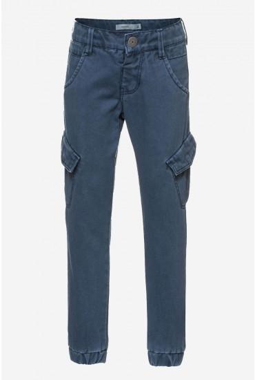 Tary Twill Pants in Navy