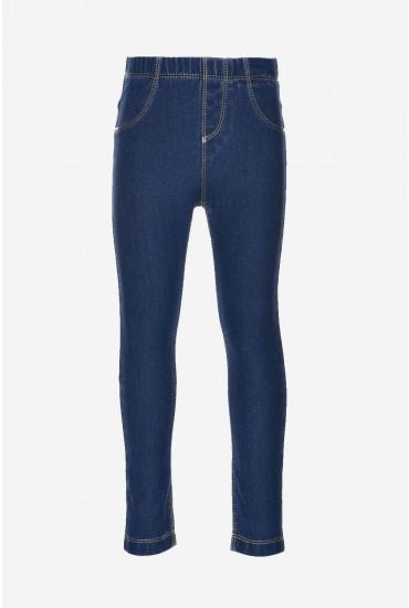 Tille Denim Leggings in Dark Blue