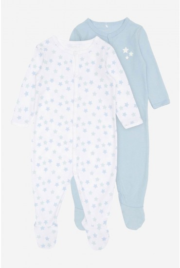 Nightsuit 2 Pack in Cashmere Blue