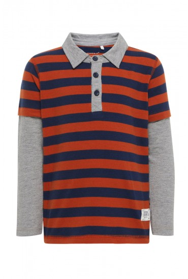Polo Shirt in Rust