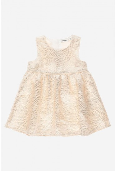 Tines Dress in Gold