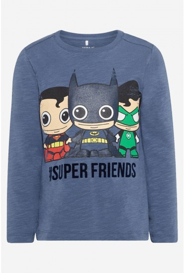 Batman LS Top in Blue