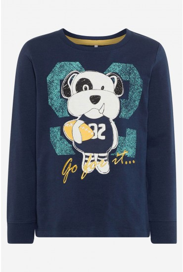 Dallon Dog LS Top in Navy