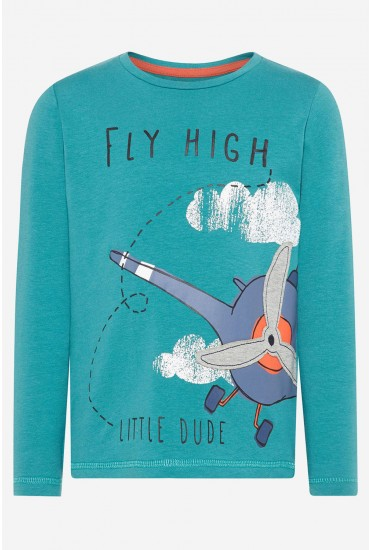 Fly HIgh LS Tee in Green