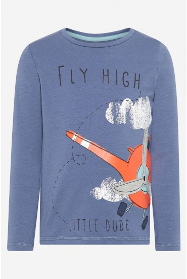 Fly HIgh LS Tee in Blue
