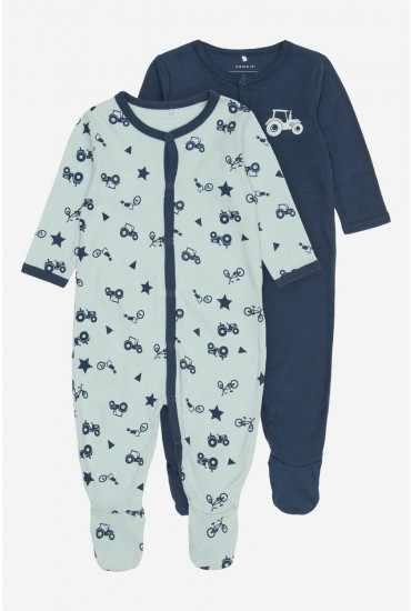 Nightsuit 2 Pack in Navy and Mint