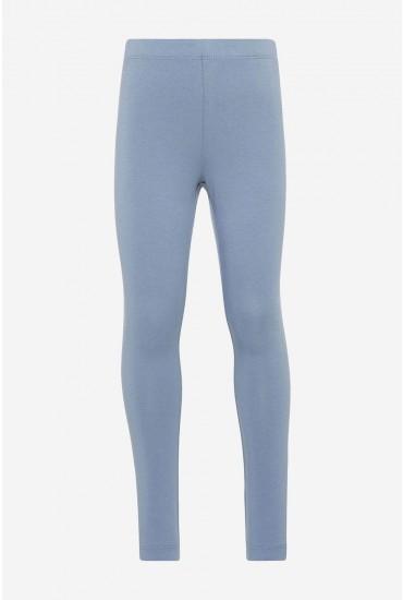 Vivian Solid Leggings in Blue