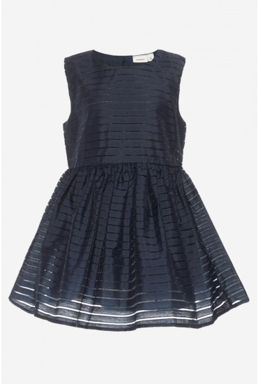 Freja Girls Occasion Dress in Navy