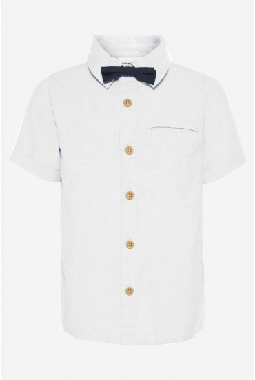Falson Boys Bowtie Shirt in White