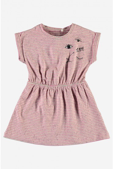 Faline SS Dress in Pink