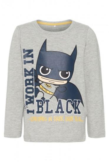 Batman Boys LS Top in Grey