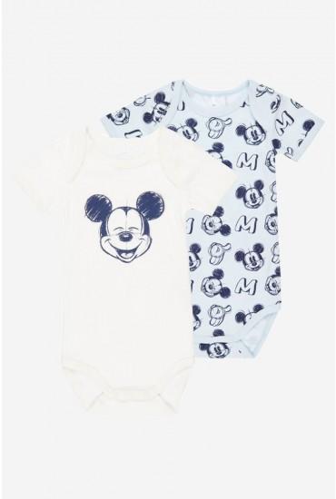 Micky Baby Long Sleeve Bodysuit 2 Pack