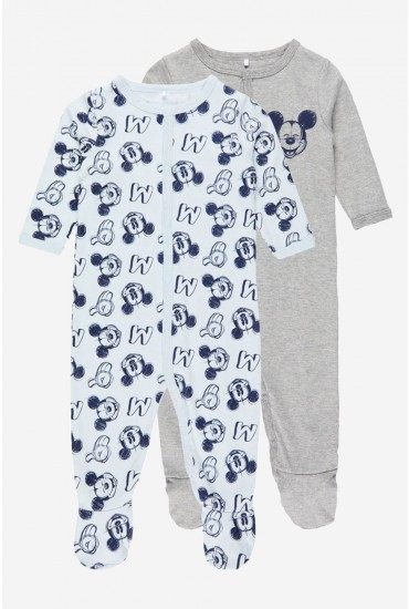 Mickey Baby Nightsuit 2 Pack in Blue
