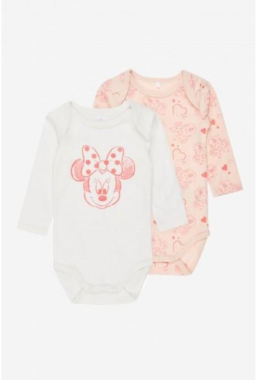 Mnnie Baby Long Sleeve Bodysuit in 2 Pack