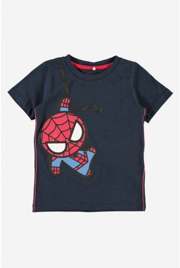 Kawaii Boys Spiderman Tee in Navy