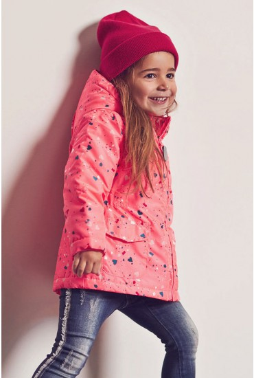 Mello Girls Jacket in Confetti Print
