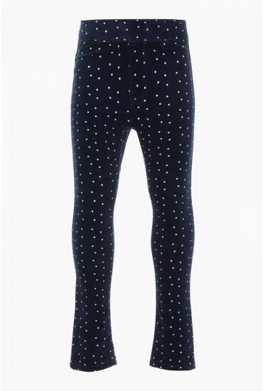 Polly Girls Cord Legging in Navy