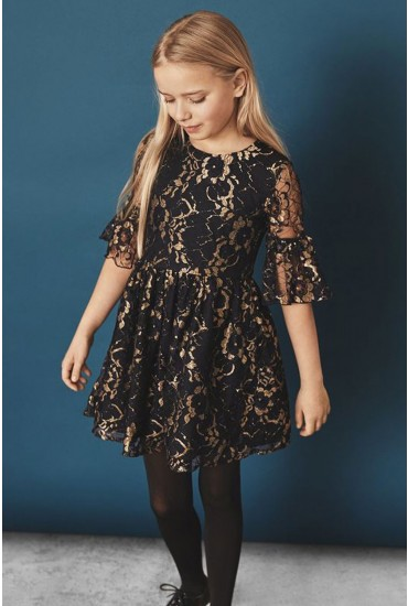 Fralut Girls Lace Dress