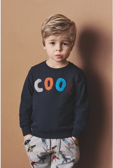 Raste Boys Sweat Top in Navy