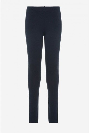 Davina Girls Leggings in Navy