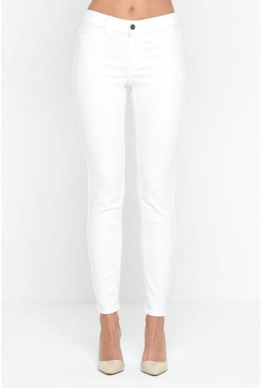 Commit 7/8 Skinny Jeans in White