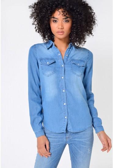 Bista Denim Shirt in Medium Blue