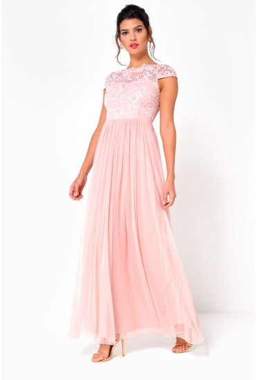 Ulricana S/S Maxi Dress in Blush