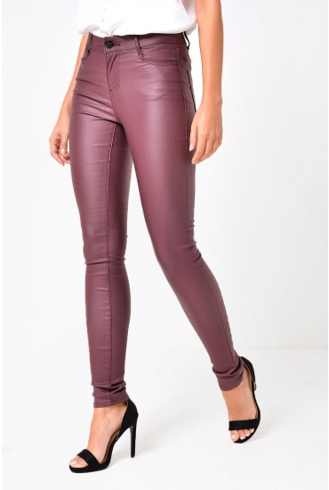 Commit RW New Coated Jeans in Wine