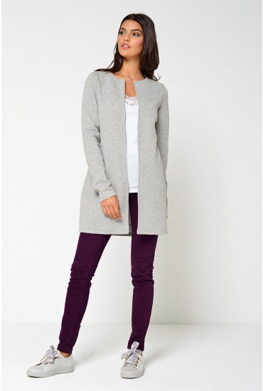 Naja New Long Jacket in Light Grey