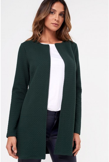Naja New Long Jacket in Hunter Green