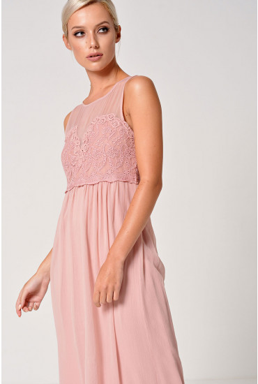 Maker S/L Maxi Dress in Pale Mauve