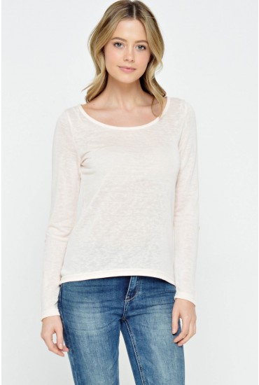 Sumi SS Top in Blush