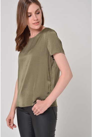Cava S/S Top in Khaki