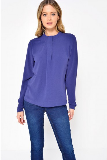 Callie Drape Top in Purple