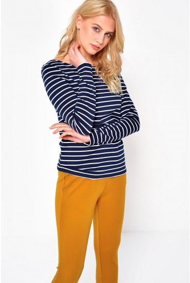 Tinny Boatneck Top in Navy