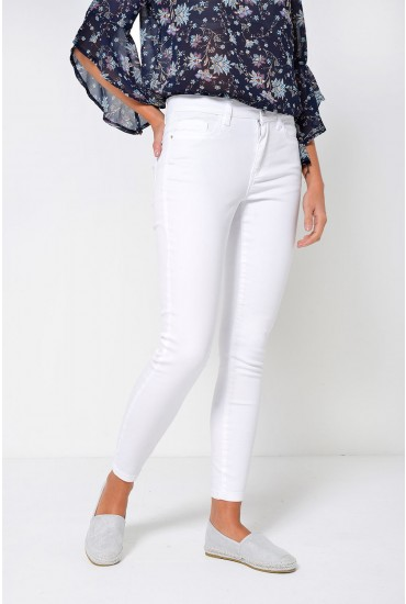 Amy Ankle Slim Jeans in White