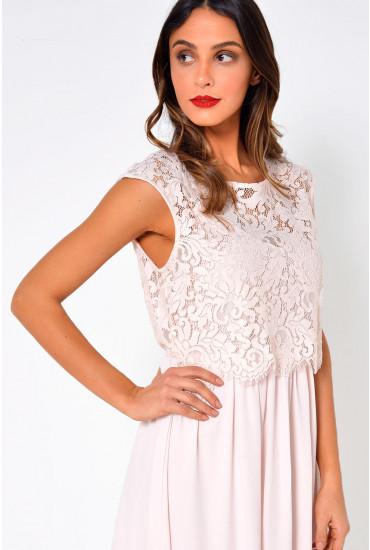 Ulvica Lace Top Dress in Blush