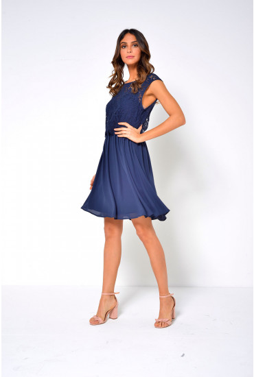 Ulvica Lace Top Dress in Navy