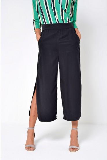 Joannes Cropped Pants in Black