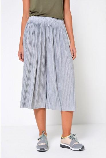 Pliss Culottes in Grey