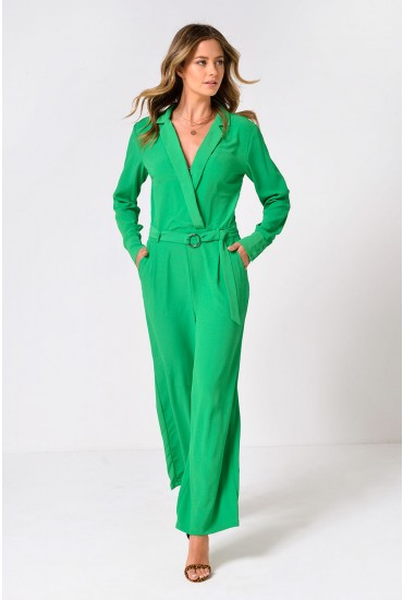 Adena Long Sleeve Jumpsuit in Green