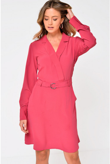 Viadena Belted Dress in Rose
