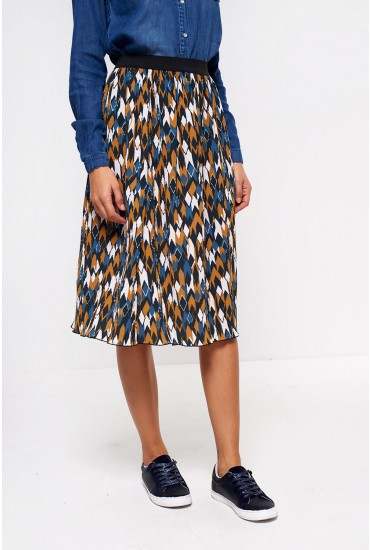 Zura Pleated Midi Skirt
