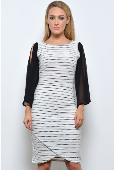 Darina Cut Out Dress in White